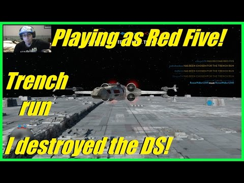 Star Wars battlefront - I blew up the Death Star! | Red Five gameplay! | Rebels win! (50 kills)