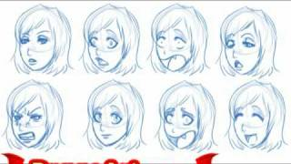 How to draw manga expressions, step by step