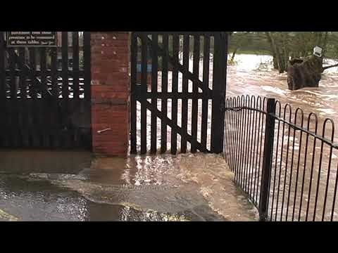 Severe Flooding At Cowley Bridge Juncton, Mill On The Exe And Exeter Quay
