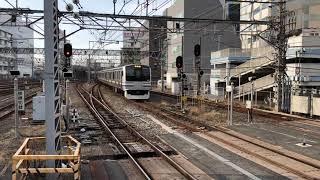 JR千葉駅9番線14時55分着1213Fから15時01分発4213F成田空港駅行き快速入線発車。