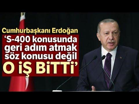 """Cumhurbaşkanı Erdoğan: """"S-400 Konusunda Geri Adım Atma Söz Konusu Değil"""""""