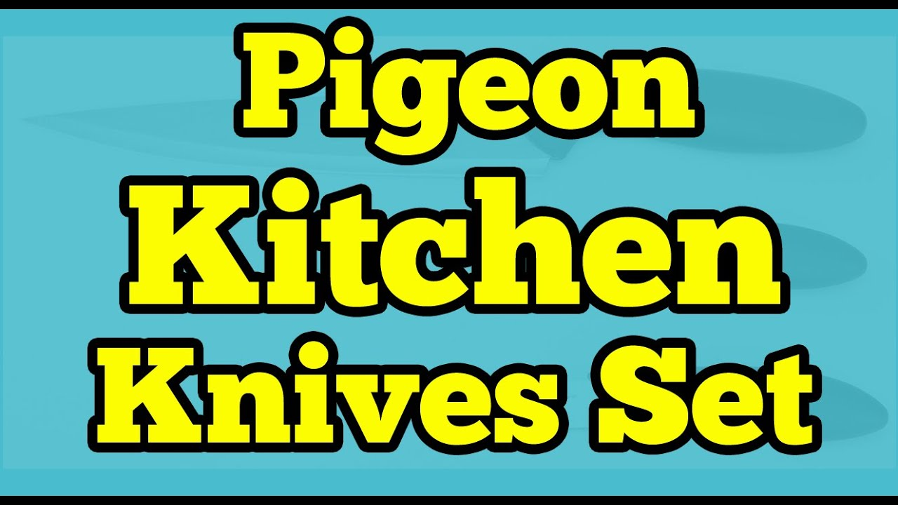 Pigeon kitchen knives set 3 pieces unboxing youtube for Kitchen set video song