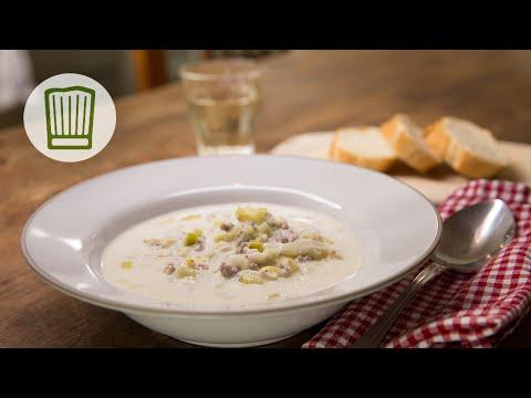 Käse-Lauch-Suppe mit Hackfleisch Rezept #chefkoch - YouTube
