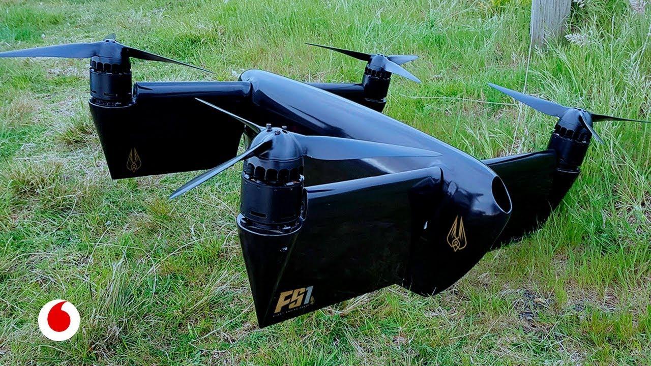 Drones gigantes para hacer las carreras más espectaculares