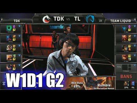 Team Dragon Knights vs Team Liquid   S5 NA LCS Summer 2015 Week 1 Day 1   TDK vs TL W1D1 G2 Round 1