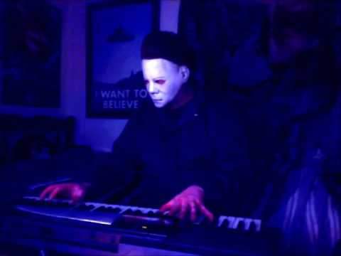 Michael Myers playing his Halloween theme music!