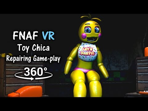 360°| Repairing Toy Chica Game-play Animation [FNAF Help Wanted/SFM] (VR Compatible)