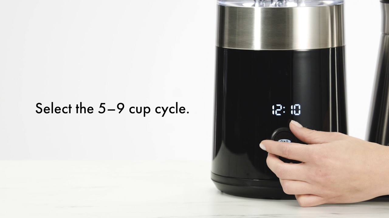 fbf8d6a81 How to Use the OXO Brew 9-Cup Coffee Maker - YouTube