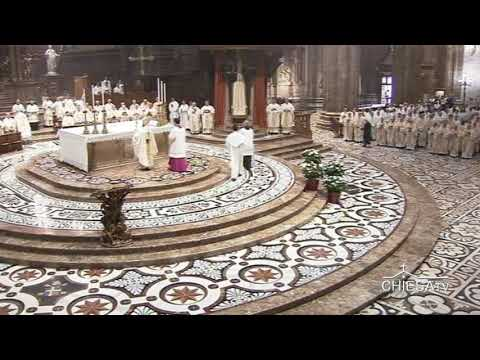 Duomo di Milano, solenne Pontificale per la festa di S.Maria Nascente - (CHIESATV)