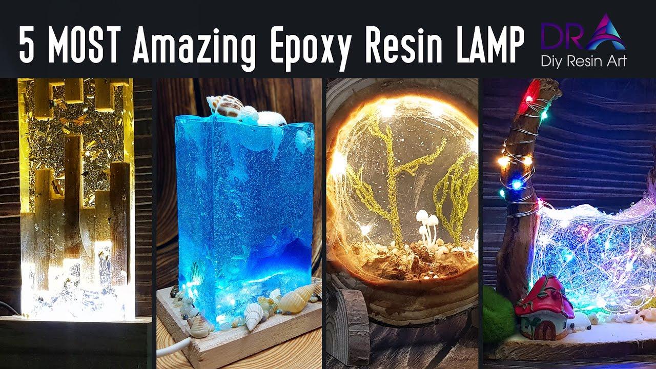 5 MOST Amazing Epoxy Resin LAMP Tutorial | Diy Resin Art