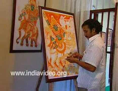 Training mural paintings in kerala india youtube for 3d mural painting tutorial