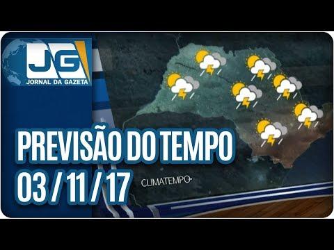 Previsão do Tempo - 03/11/2017
