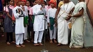 Indgaon Z.P. school independence day perform shivaji maharaj powada