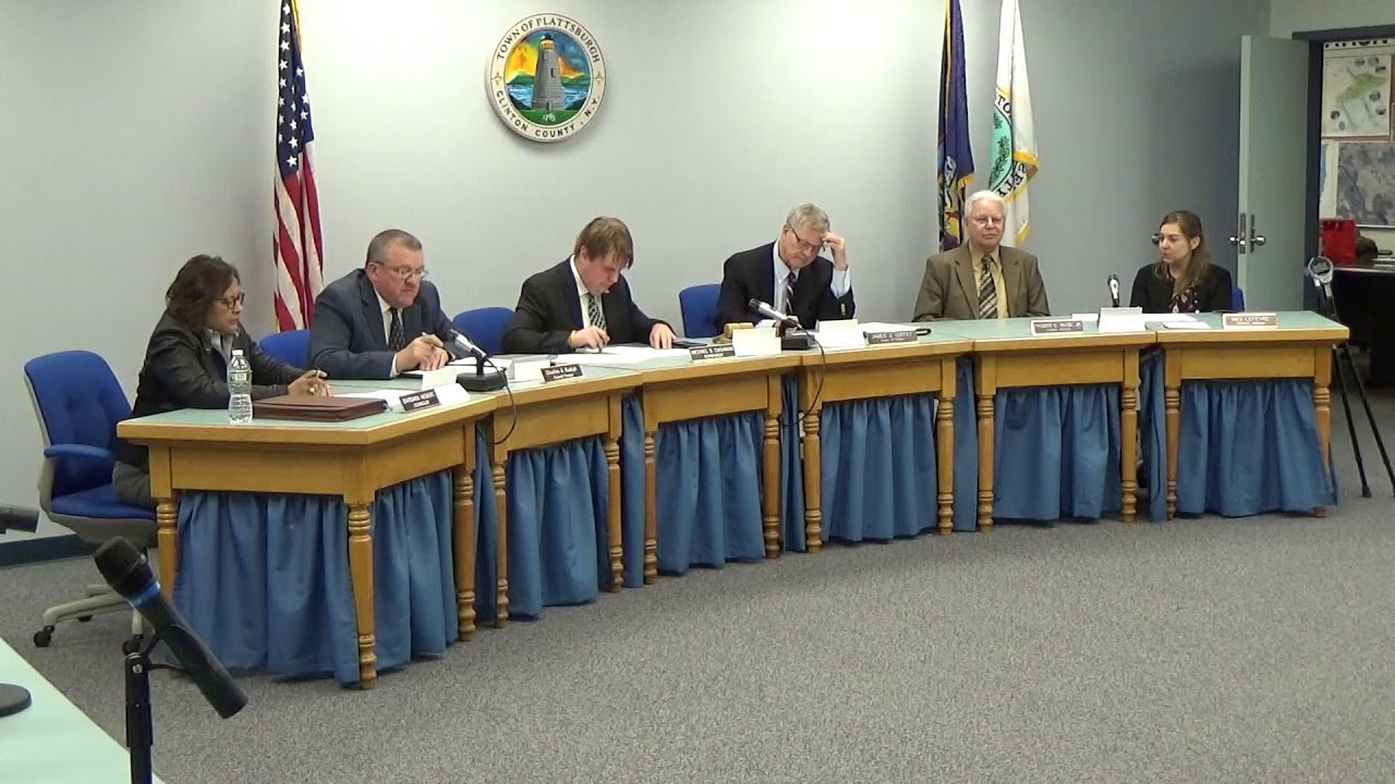 Town of Plattsburgh Meeting  4-18-19