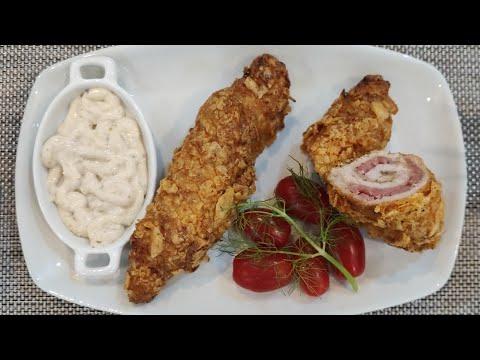 رولي-الدجاج-المحشي-بالجبن-والمرتديلا-وصفة-رائعة-و-سهلةfilet-de-poulet-roulé-au-fromage-et-mortadelle