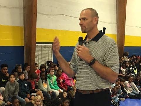 Eric Montross Visits Jones Elementary School