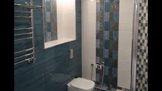 Самый простой Ремонт ванной комнаты совмещенной с туалетом