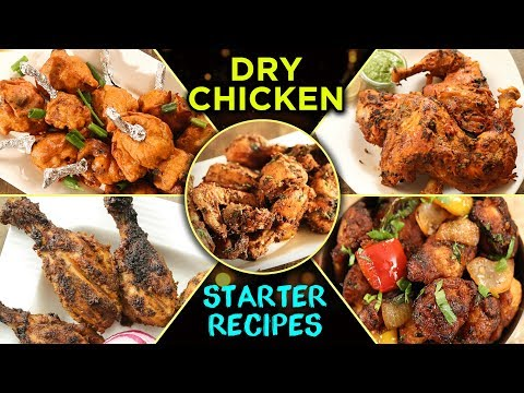 Best Chicken Recipes - Dry Chicken Starter Recipes In Hindi - Simple & Easy Party Appetizers