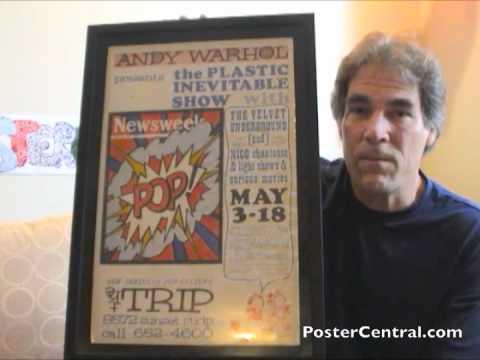 Andy Warhol's Exploding Plastic Inevitable Poster 1966 W/VU & Nico