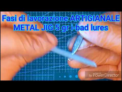 how to make metal jig lure handcrafted Italy i-bad lures light JIGGING rock FISHING GAME MEBARU lure