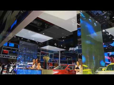YIPLED | Shanghai International Auto Show JMC transparent LED screen
