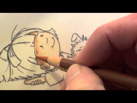Colored Pencils-Coloring skin Tutorial - YouTube