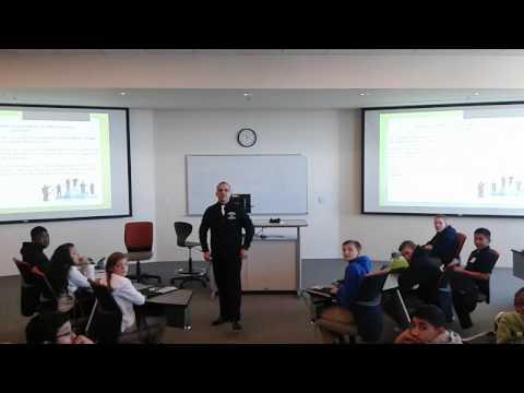 Israel Vargas Muniz Addressing Abbott Middle School from Elgin
