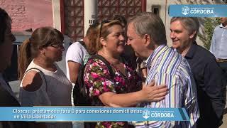 Cloacas: préstamos a tasa 0 para conexiones domiciliarias en Villa Libertador