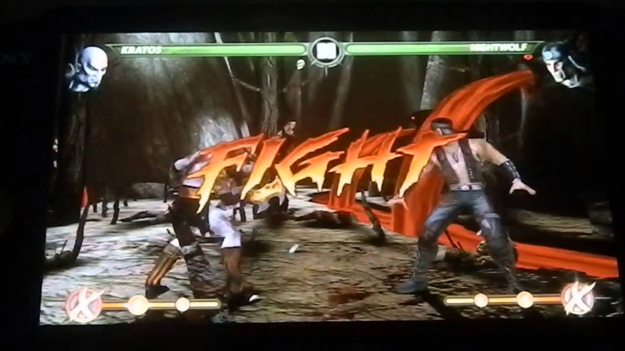 Mortal Kombat PS Vita Arcade Mode Kratos Gameplay