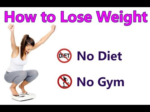 How to Lose Weight easily & Fast Without Exercise at home.