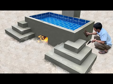 Building Heated Swimming Pool For Homeless Man - Construction idea