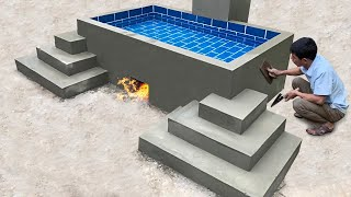 Building Heated Swimming Pool For Homeless Man  Construction idea