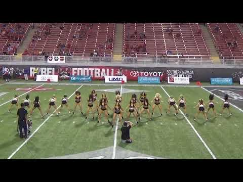 Rebel Girls Football Game UNLV vs. San Jose St. 2nd Time Out Performance