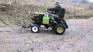Мини-трактор из мотоблока Зубр.