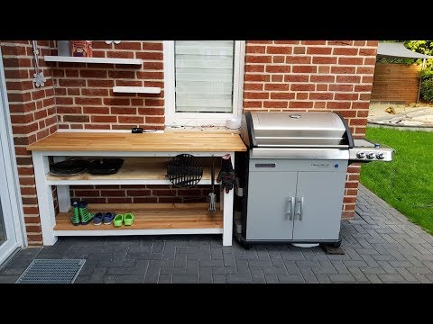 Do it yourself - BBQ Grill Table  - Larch Wood