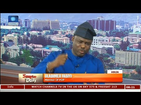Atiku Is The Man Nigeria Needs Right Now,APC Has Failed Nigerians-- Fabiyi Pt.1 |Sunrise Daily|