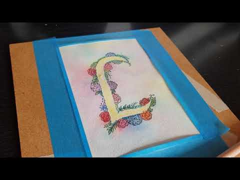 Cardmaking for beginners: watercolour floral pattern- part 2. (Hyperlapse)