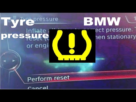 How to reset tyre pressure light on BMW X1  reset tyre pressure