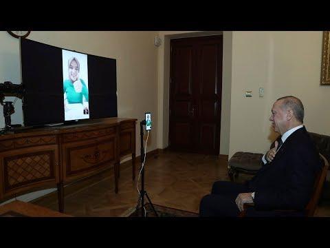 Cumhurbaşkanı Erdoğan, Ümmü Gülsüm Genç'le Sosyal Medyada Canlı Görüştü