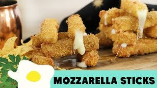 Resep Keju Goreng ( Fried Mozzarella Stick Recipe Video)