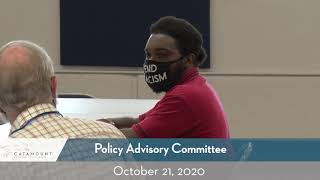 Policy Advisory Committee // 10/21/20