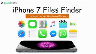 iPhone 7 Files Finder, the iPhone 7 file recovery software, to  restore the lost iPhone 7 files