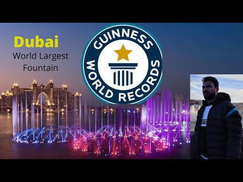 Dubai | World's largest fountain | Guinness World Record | Amazing Dancing Palm Fountain(2020)