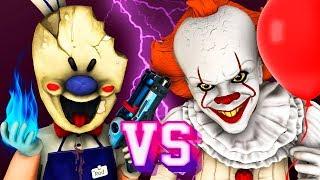 Мороженщик vs Пеннивайз - Фильм (Все Серии Ice Scream 3 Оно 2 Танцующий Клоун Хоррор 3D Анимация)