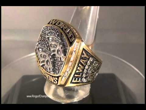 1998 Denver Broncos Super Bowl XXXIII Championship Replica Ring