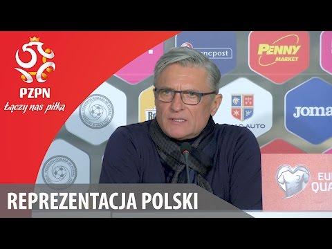 Konferencja po meczu z Rumunią (Bukareszt, 11.11.2016)