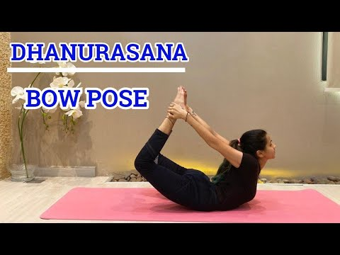 How to do Dhanurasana (Bow pose) | Yoga tutorials for beginners | Yoga asanas | Yoga benefits