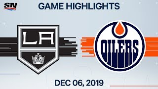 NHL Highlights | Kings vs Oilers - Dec. 6, 2019