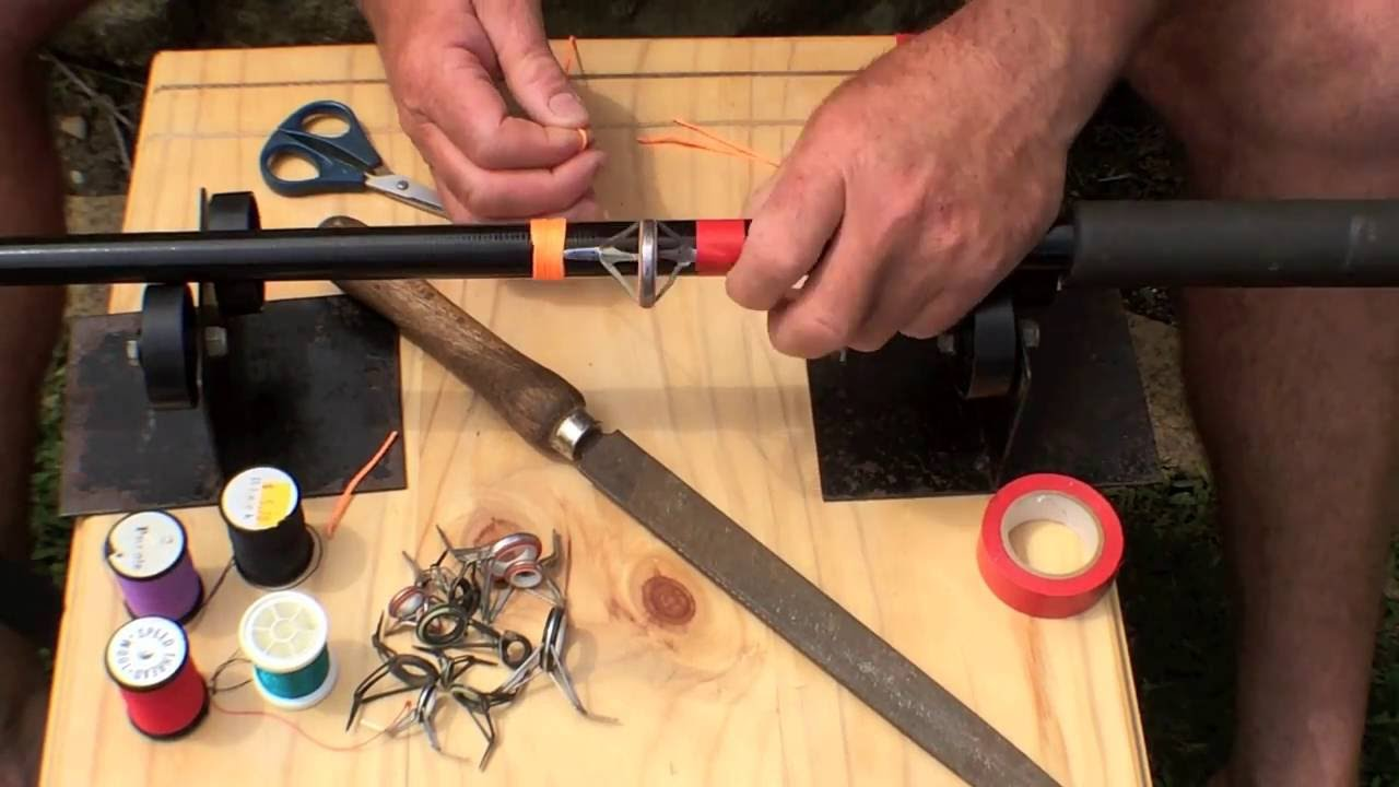 repair guides on fishing rod