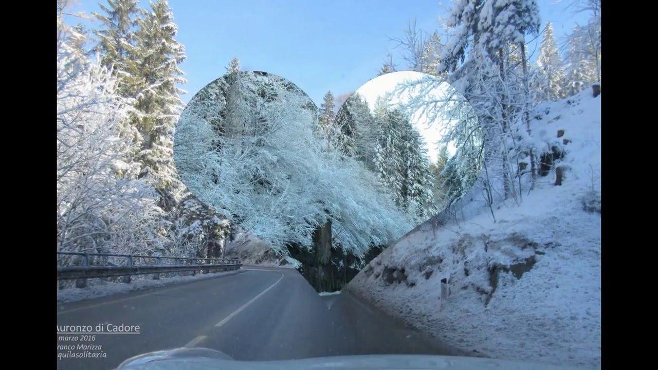 ...andando ad auronzo di cadore - dolomiti - dopo una nevicata
